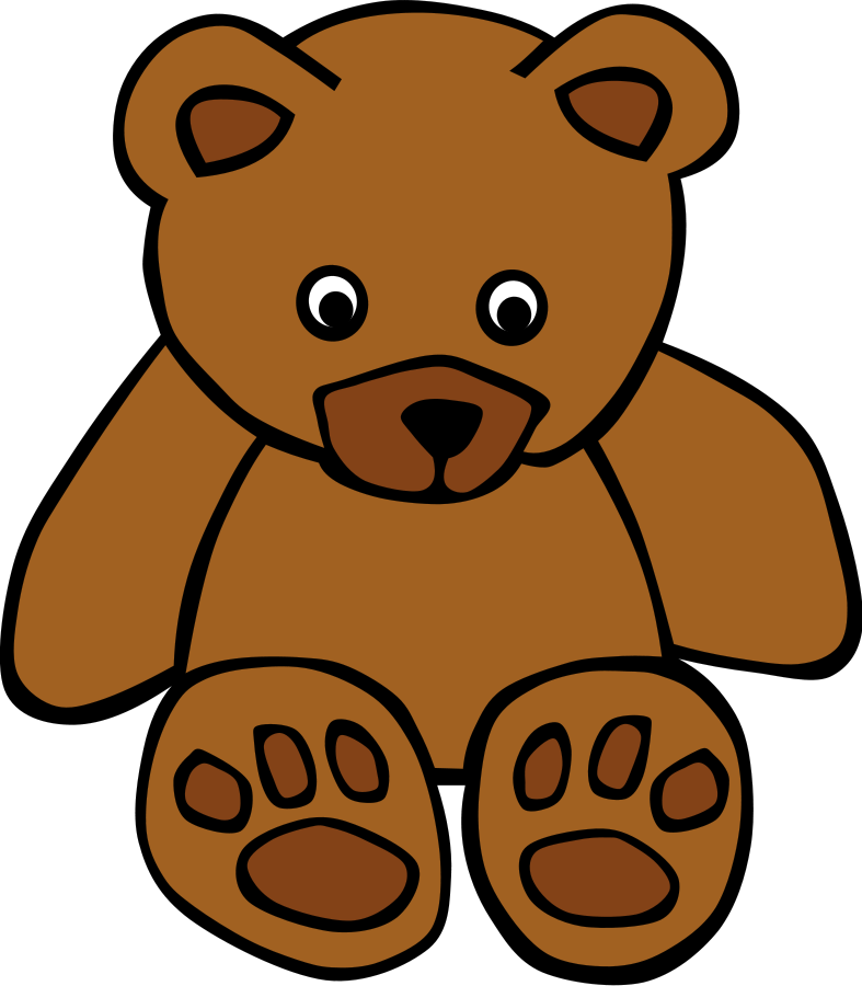 Bear clip art easy. Free teddy outline download