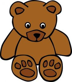 Bear clip art easy. How to draw a