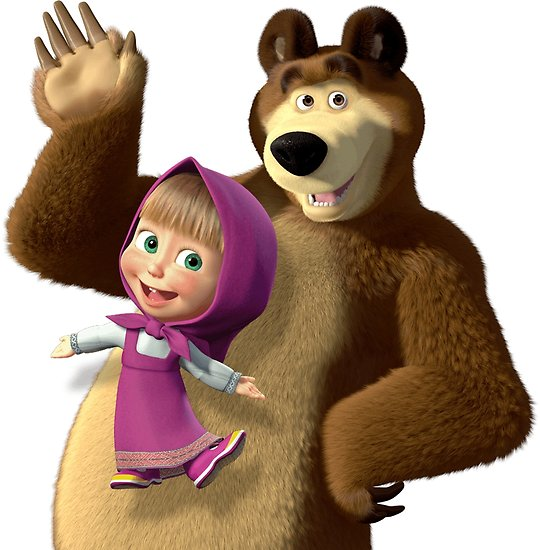 bear clip art masha and