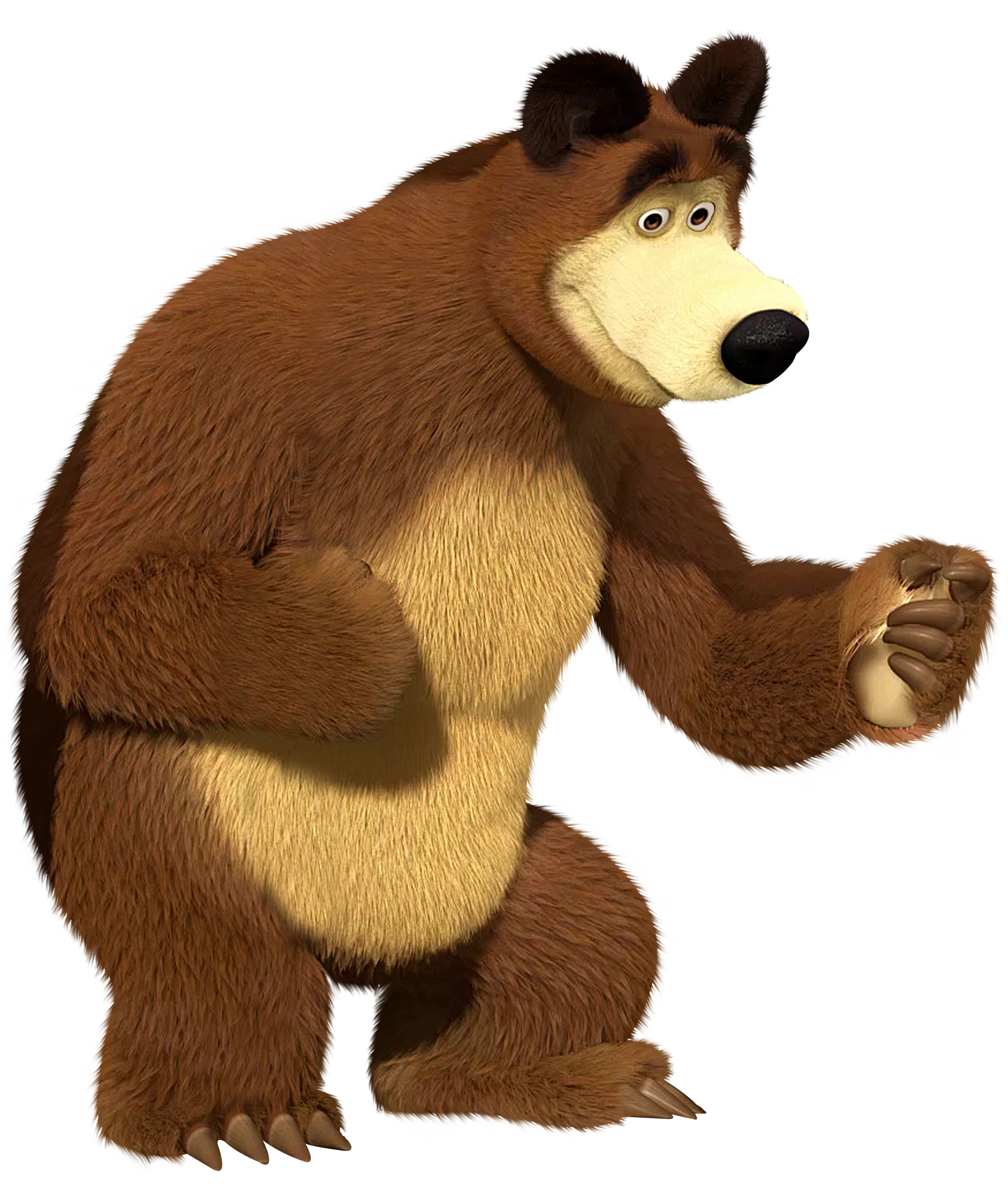 Bear clip art masha and. The transparent png image