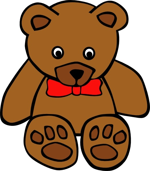 Bear clip art printable. Simple teddy drawing at