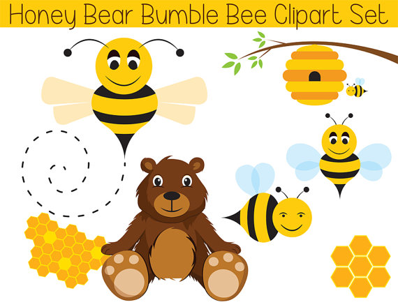 Teddy cute bee clipart. Bear clip art printable graphic black and white download