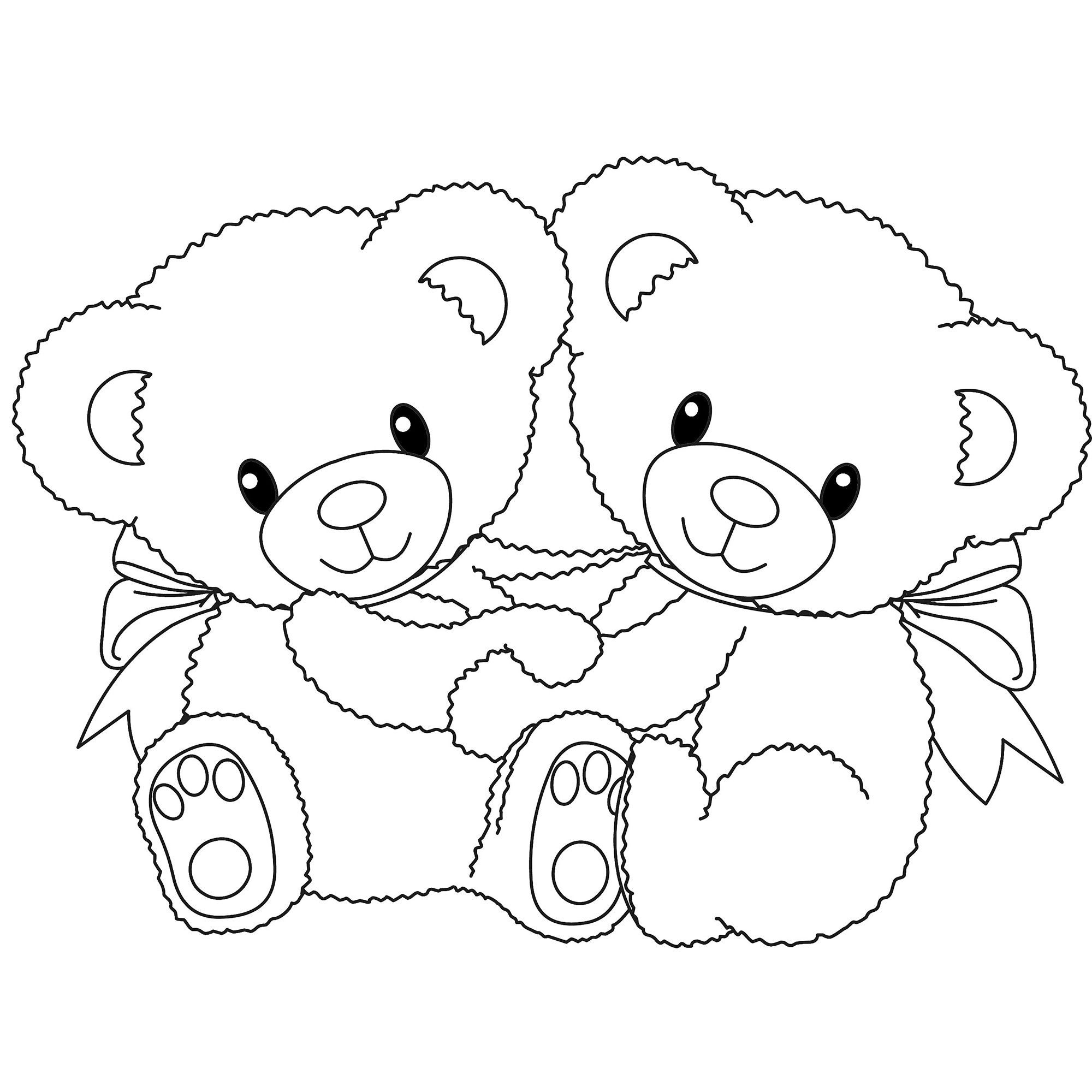 Bear clip art printable. Teddy coloring pages free