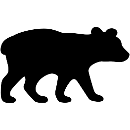 Silhouettes cub. Bear clip art silhouette graphic free download