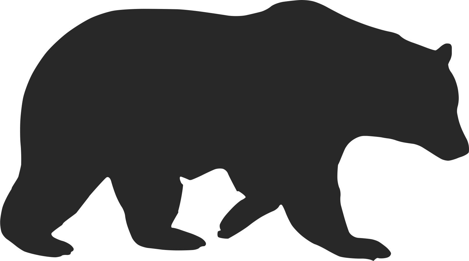 Sloth at getdrawings com. Bear clip art silhouette image black and white download