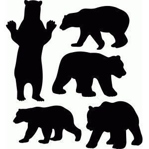 Bear clip art silhouette. Polar at getdrawings com