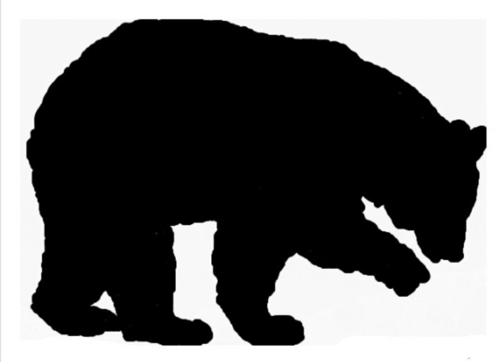 Bear clip art silhouette. Black at getdrawings com