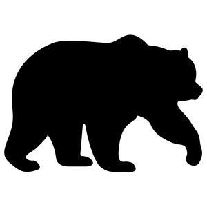 Bear clip art silhouette. Pin by brittany dertz