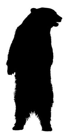 Bear clip art silhouette. Grizzly clipart panda free