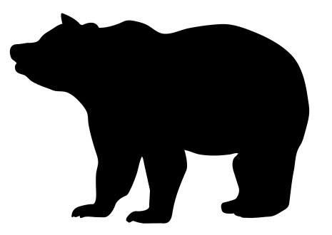 Bear clip art silhouette pattern. Plywood patterns at getdrawings