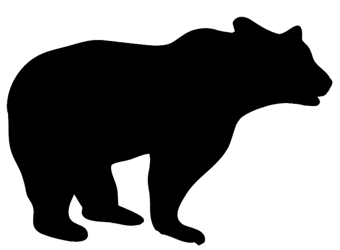 Pin by florencia freijo. Bear clip art silhouette pattern image black and white download
