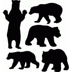 Wildlife silhouettes patterns google. Bear clip art silhouette pattern png royalty free library