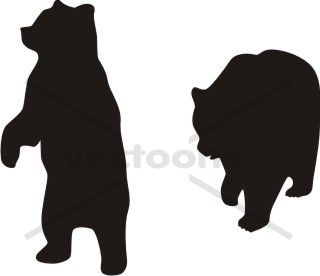 Bear clip art silhouette pattern. Xmas free the pillow