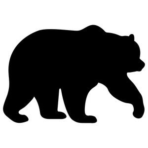 bear clip art silhouette pattern