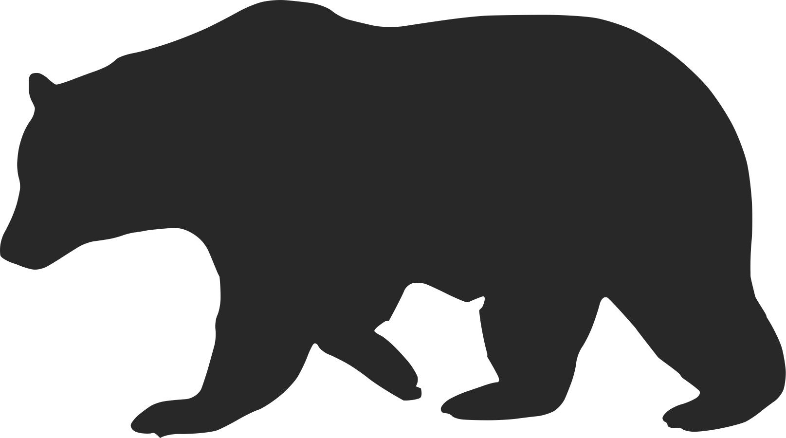 Bear clip art silhouette. Redesign california s flag