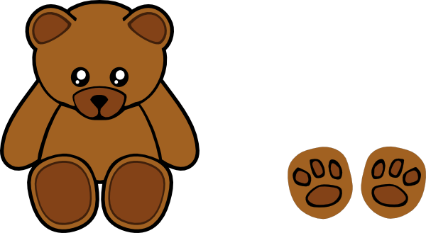 Bear clip art simple. Stuffed teddy at clker