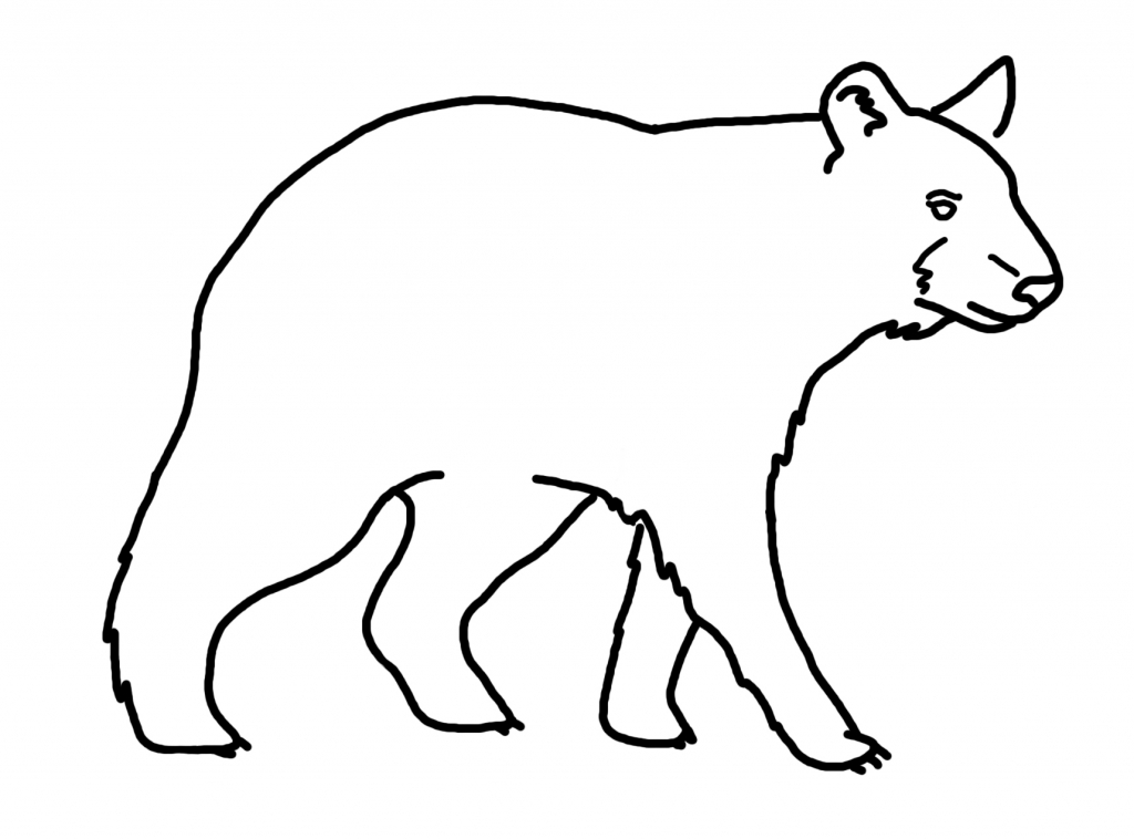 Bear clip art simple. Drawing of a clipart