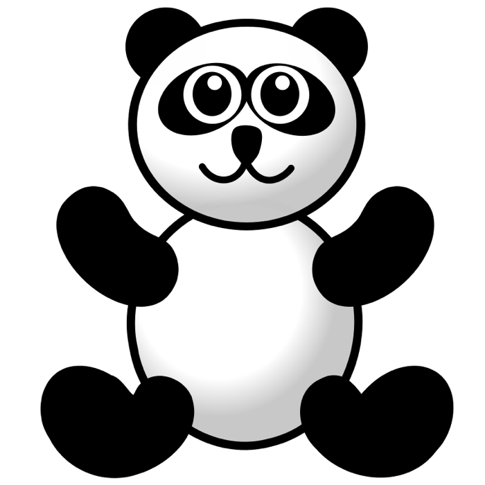 Bear clip art simple. Cute panda clipart animations