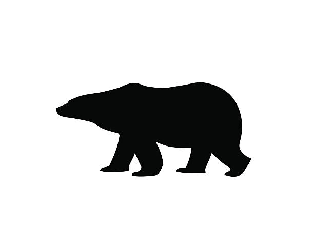 Bear clip art simple. Silhouette at getdrawings com