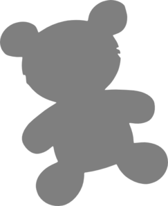 Teddy at clker com. Bear clip art simple image library download
