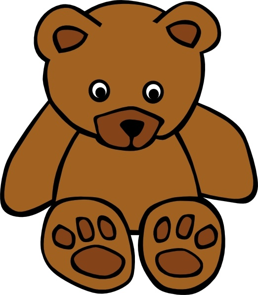 Bear clip art simple. Teddy free vector in