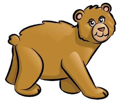 Bear clip art simple. How to draw a