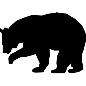 Bear clip art simple. Black cricut pinterest bears