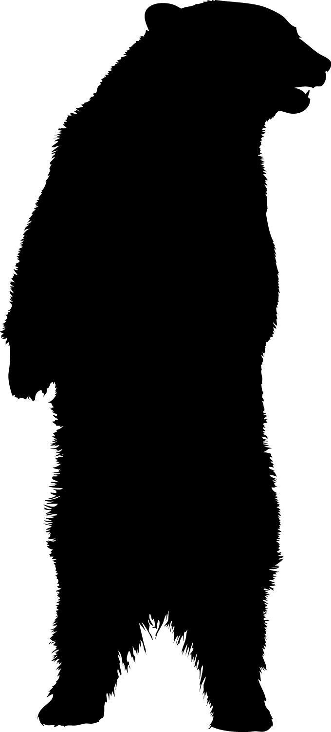 Bear clip art standing bear. Vinyl decal sizes available