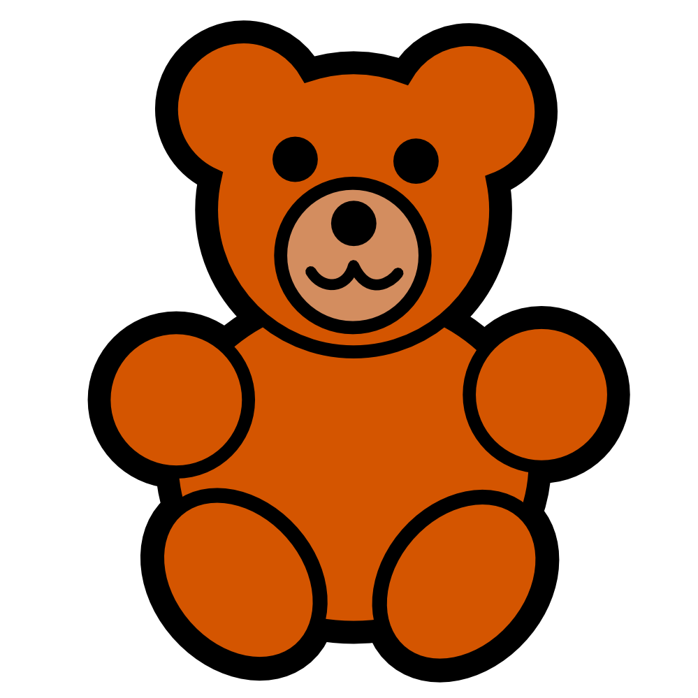 Grizzly clipart simple bear. Clip art standing panda