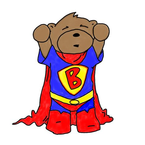bear clip art super hero