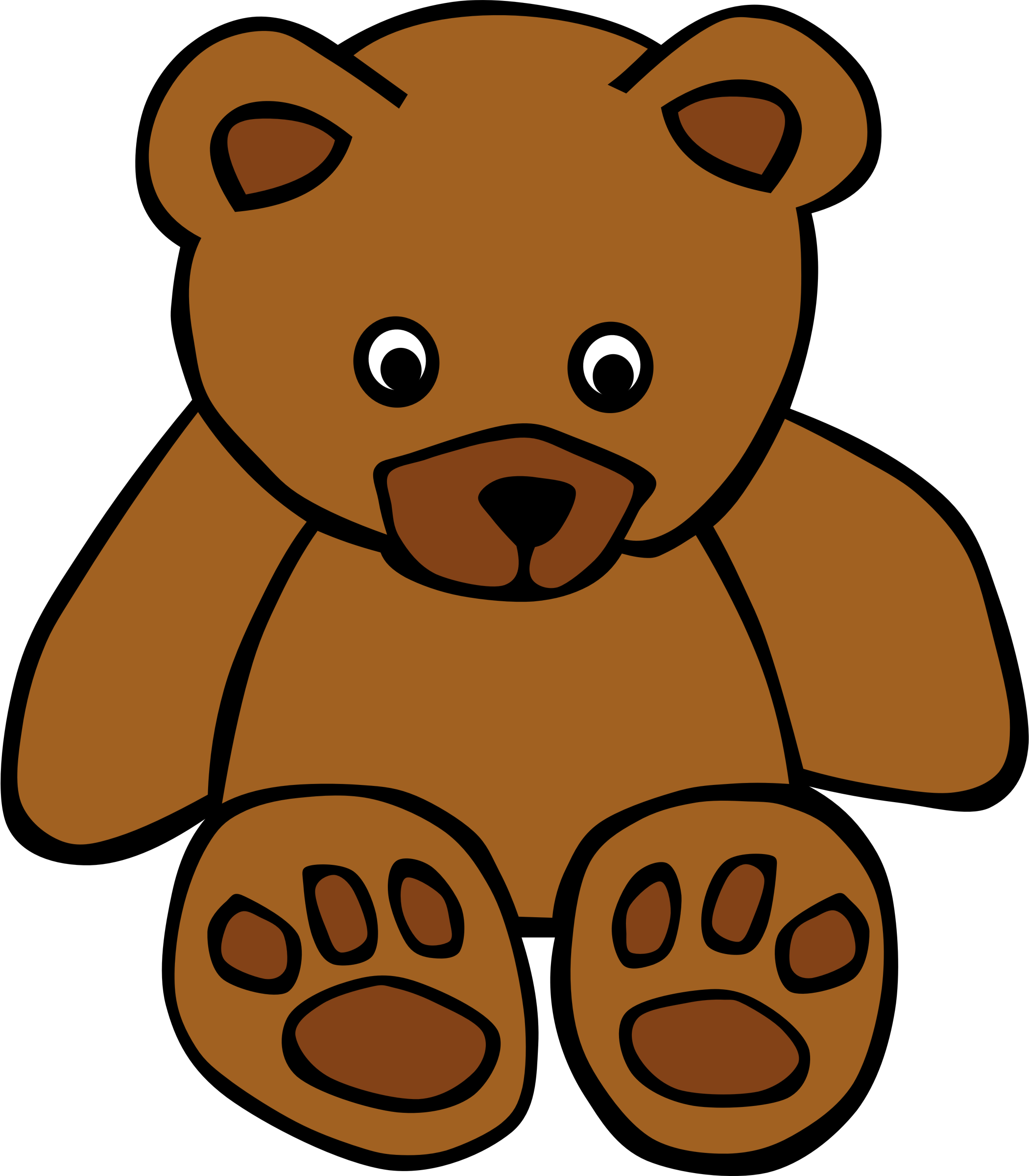 Clipart teddy big image. Bear clip art simple graphic free
