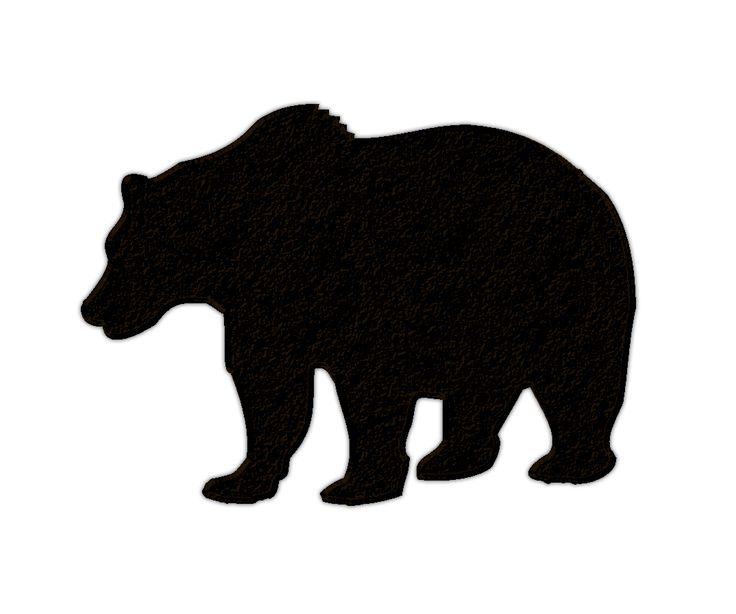 Grizzly silhouette at getdrawings. Bear clip art transparent background free library