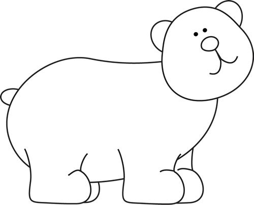 Bear clip art white background. Images black and