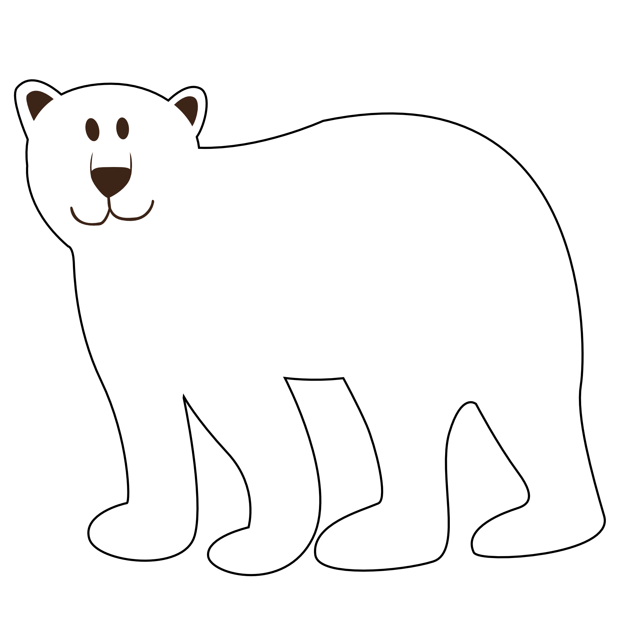 Bear clip art white background. Free polar download on