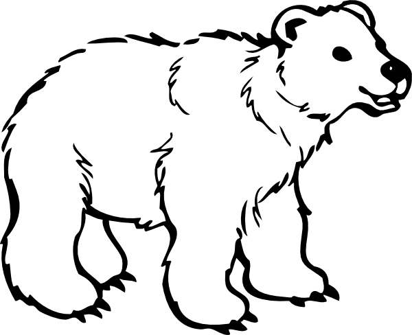 Bear clip art white background. Mayfield at clker com