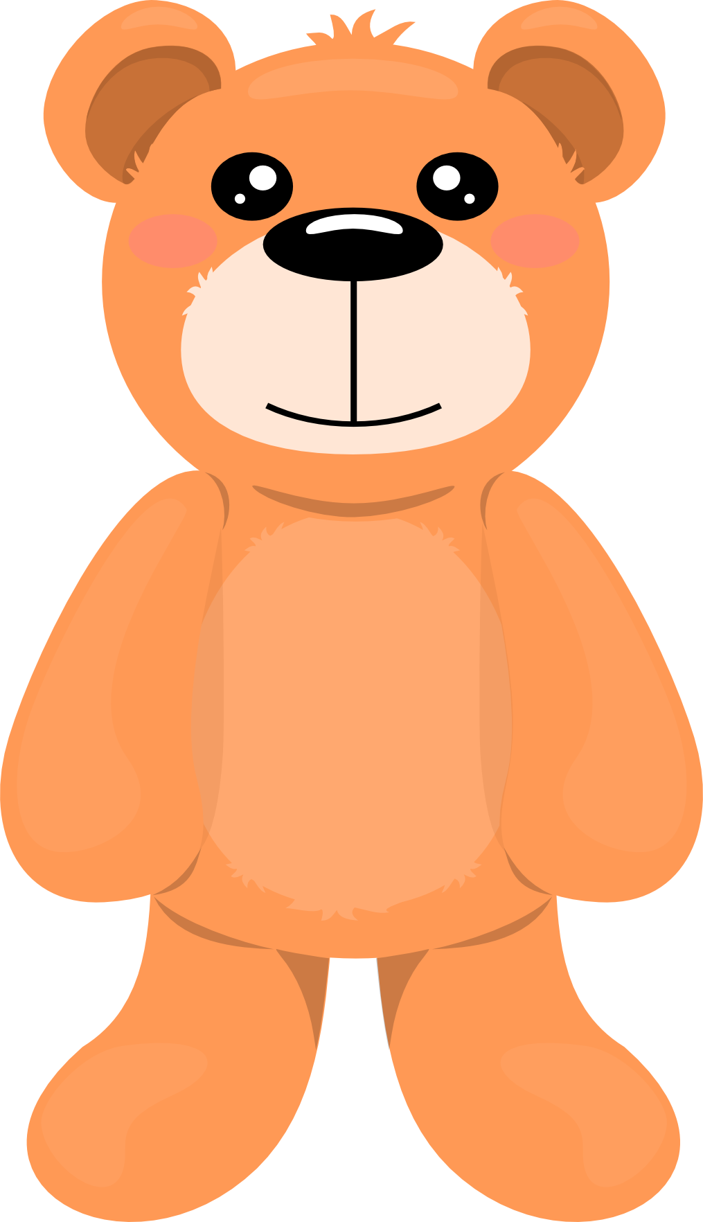 Teddy all for you. Bear clip art white background vector free