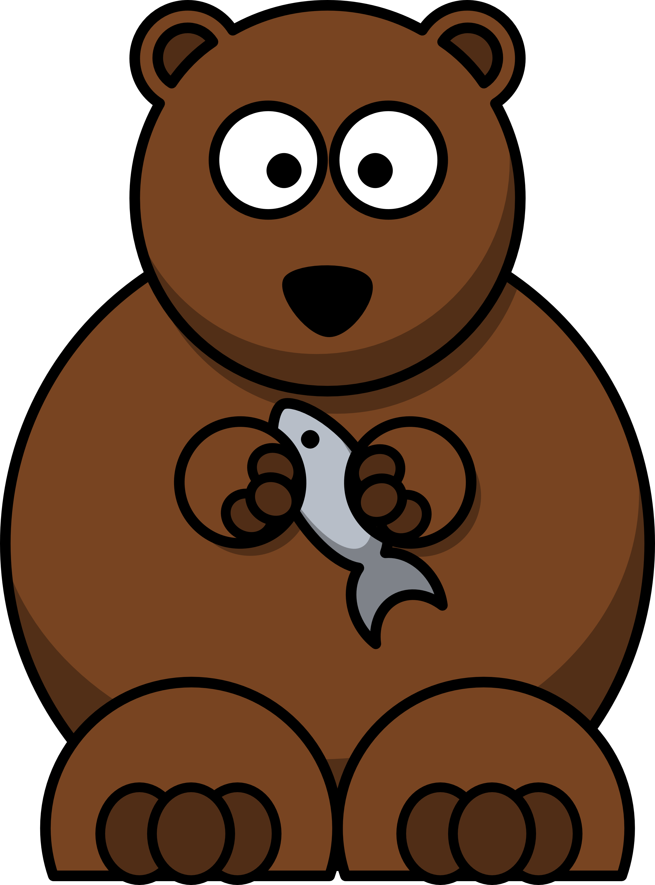 Bear clip grizzly. Mascot