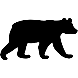 Silhouettes black. Bear clip silhouette clipart library