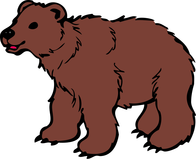 Bear clipart. Real