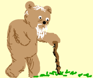 Bear clipart grandpa. Has a hard time