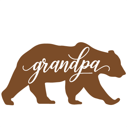 Bear clipart grandpa. Svg cuts scrapbook cut