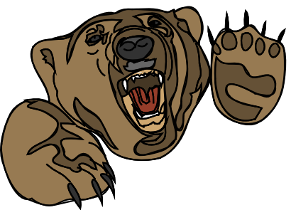 Bear clipart mad bear. Free angry cartoon download