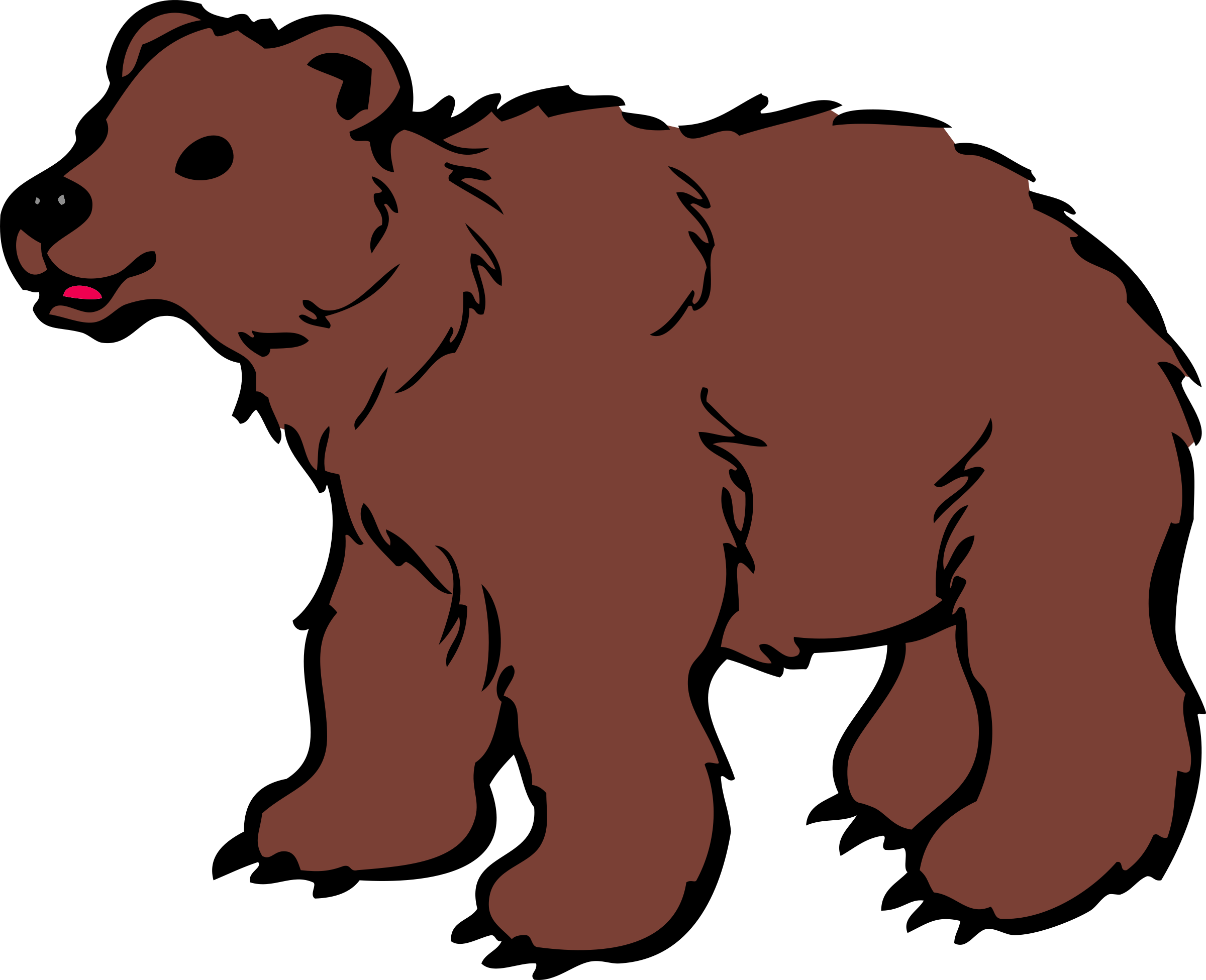Scary clipart at getdrawings. Bear clip art transparent background jpg freeuse download