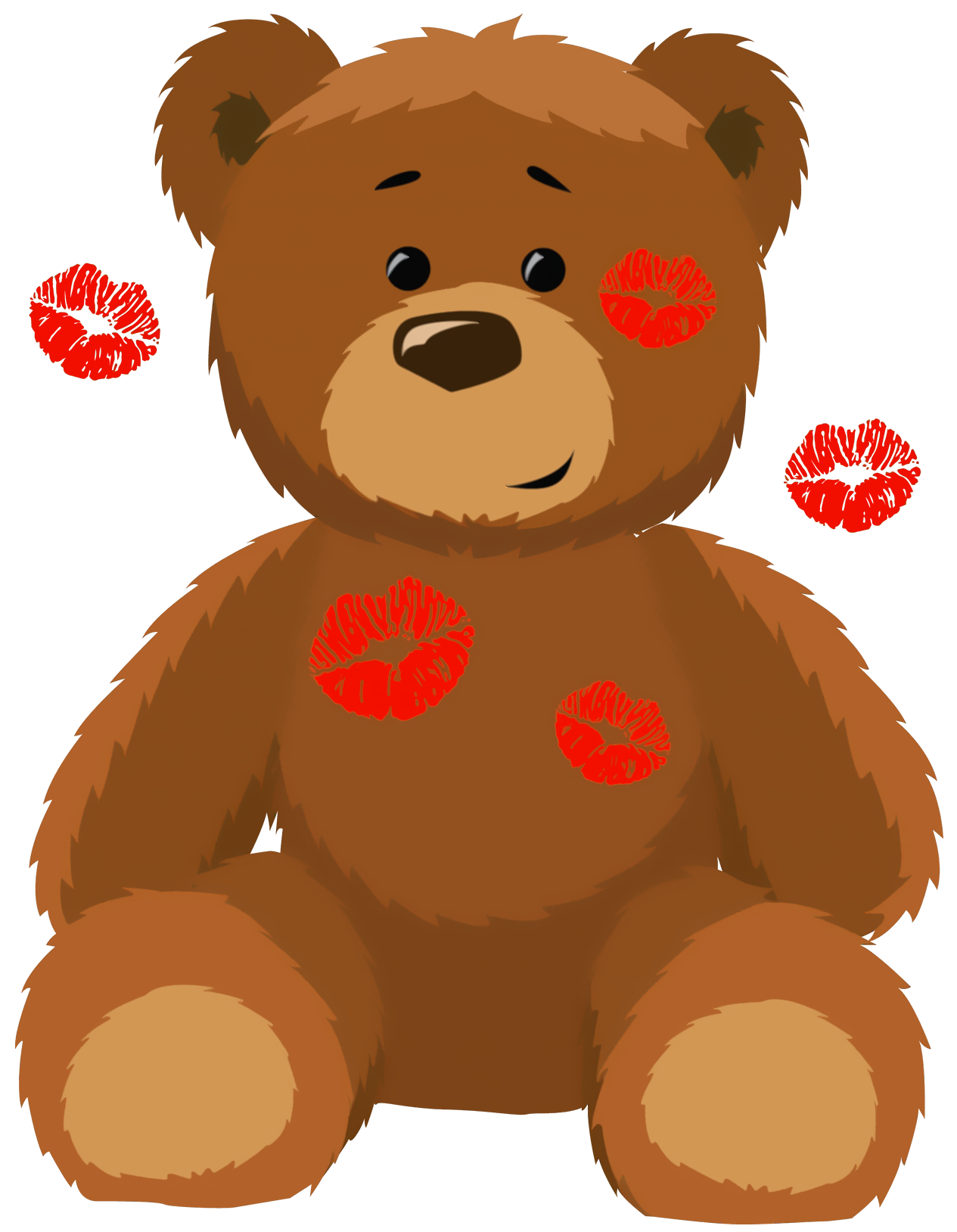 Bear clipart png. Cute with kisses picture