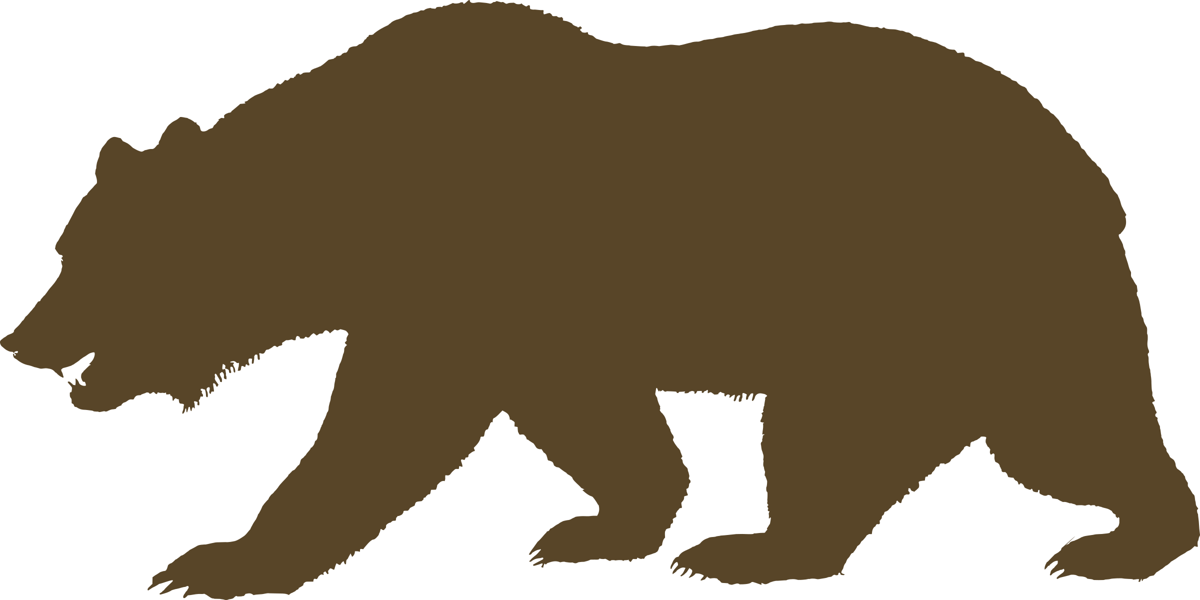Bear outline png. Flag of california solid