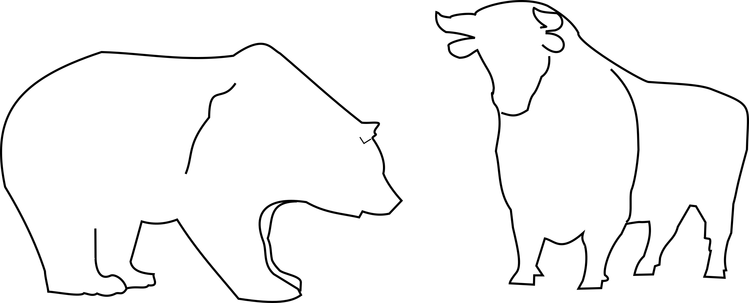 Bear outline png. Bull and icons free
