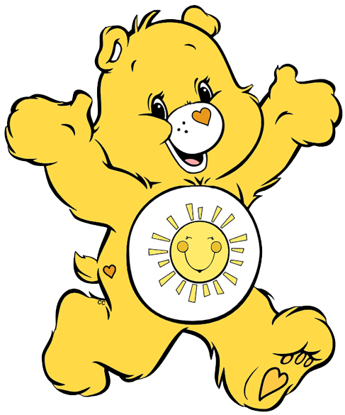 Bear png clipart. Care bears and cousins