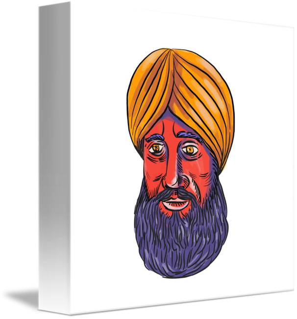 turban drawing beard
