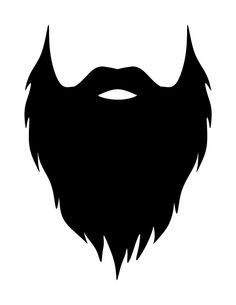 Beard clipart. Printable photo booth prop