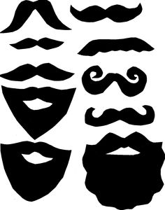 Beard clipart baby mustache. Straw pinterest template and